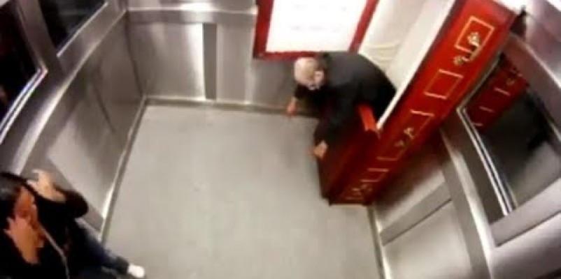 Scary Coffin In Elevator Prank
