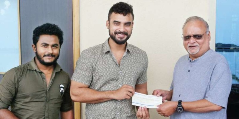 Tovino Thomas contributes Rs 12.5 lakh to Mathrubhumi's 'Snehabhumi' project